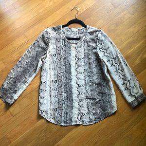 Joie animal print blouse 10% silk